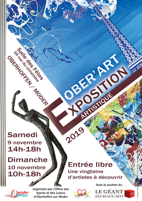 affiche expo ober art 2019